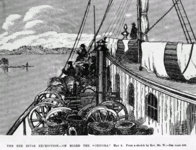 """On Board the """"Chicora"""" May 9 [Red River Expedition]"""