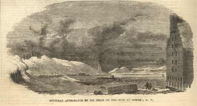 Ice Hills on the Pier, Oswego, N. Y.