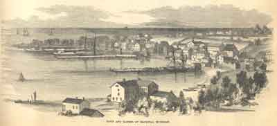 Town and Harbor of Mackinac, Michigan