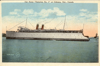 "Car Ferry ""Ontario No. 1"" at Cobourg, Ont., Canada"