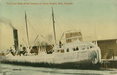 The Last Boat of the Season at Owen Sound, Ont., Canada