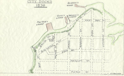 Plan of Hamilton Docks, 1842