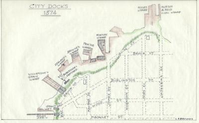 Plan of Hamilton Docks, 1874