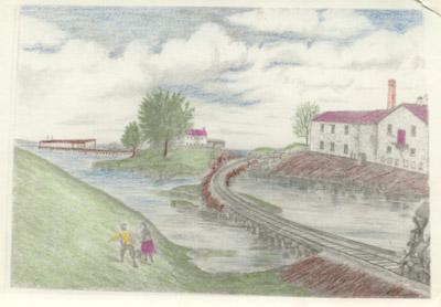 Hamilton & NorthWestern Railway's lower trestle over Land's Inlet