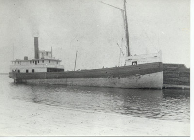 The steam barge D.R. VAN ALLEN