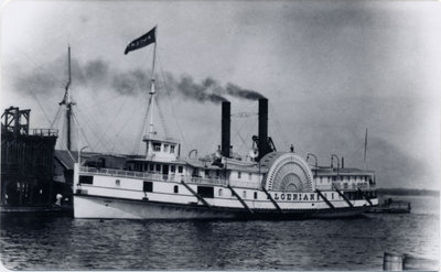 The steamer ALGERIAN berthed at Swift's Wharf in Kingston