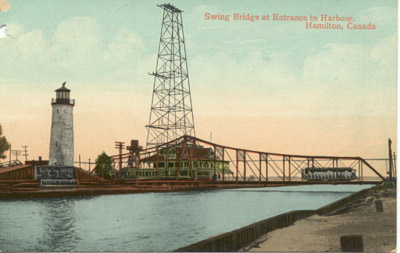 Swing Bridge at Entrance to Harbour, Hamilton, Canada