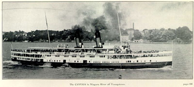 The CAYUGA in Niagara River off Youngstown.