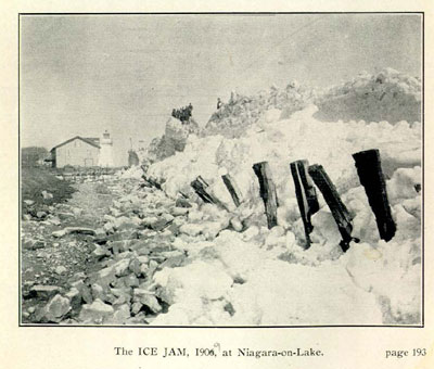 The ICE JAM, 1909, at Niagara-on-Lake.