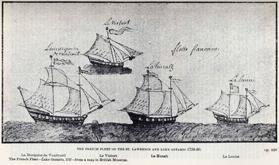 The French Fleet on the St. Lawrence and Lake Ontario 1758-60