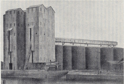 Modern Steel Grain Elevator at Buffalo