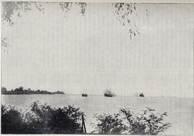 Mouth of the Detroit River from Bois Blanc Island