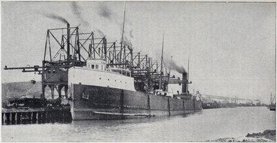 Steamer Unloading at Conneaut, Ohio.