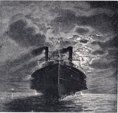Night scene on Lake Erie