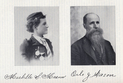 Maebelle L. Mason and Captain Orlo J. Mason