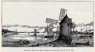 Windmill Point (on Bela Hubbard Farm) and the River in 1838