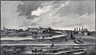 Chicago in 1830. From the Lake