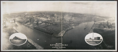 Ore docks, blast furnaces & steel mills, South Chicago, Ill., International Harvester Co., Chicago, Ill.