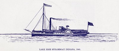 Lake Erie Steamboat INDIANA, 1841