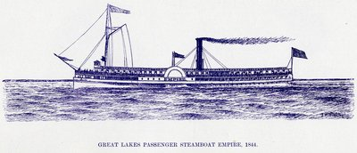Great Lake Passenger Steamboat EMPIRE, 1844