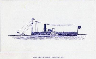 Lake Erie Steamboat ATLANTIC, 1848