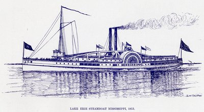 Lake Erie Steamboat Mississippi, 1853