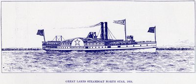 Great Lakes Steamboat NORTH STAR, 1854