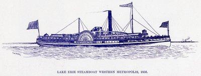 Lake Erie Steamboat Western Metropolis, 1856