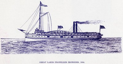 Great Lakes Propeller Ironsides, 1864