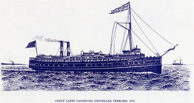 Great Lakes Passenger Propeller PEERLESS, 1872