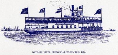 Detroit River Ferryboat EXCELSIOR, 1876
