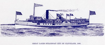 Great Lakes Steamboat CITY OF CLEVELAND, 1880