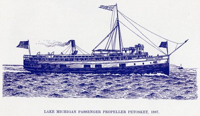 Lake Michigan Passenger Propeller Petoskey, 1887