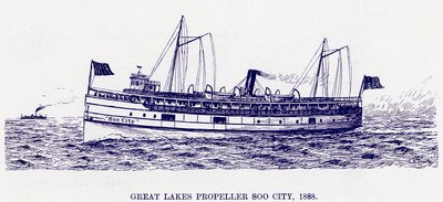 Great Lakes Propeller SOO CITY, 1888