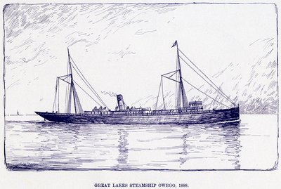 Great Lakes Steamship OWEGO, 1888