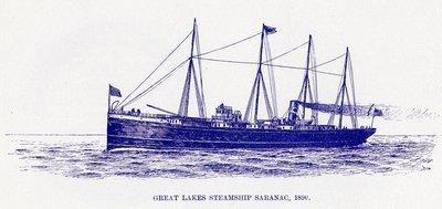 Great Lakes Steamship SARANAC, 1890