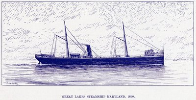 Great Lakes Steamship MARYLAND, 1890
