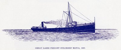 Great Lakes Freight Steamship MATOA, 1890