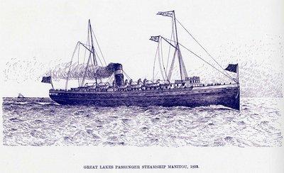Great Lakes Passenger steamship MANITOU, 1893