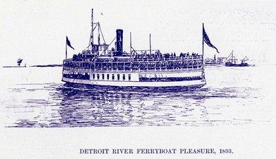 Detroit River Ferryboat PLEASURE, 1893