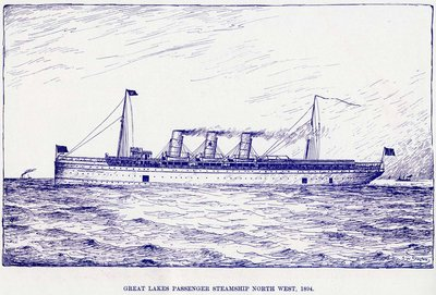 Great Lakes passenger steamship NORTH WEST, 1894