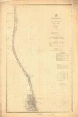 Lake Michigan Coast Chart No. 4: Chicago to Kenosha, 1877 (1890)