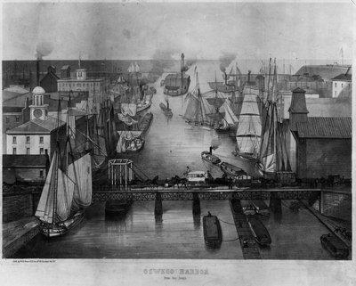 Oswego harbor, 1850s