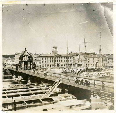 View of Oswego Harbor looking west, 1870s