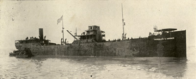 Randolph S. Warner: Reconstructed for ocean service at our yard for U. S. Shipping Board