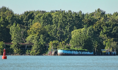 Hull of the freighter Queenston; stripped and sunk in place as the Boblo Island dock