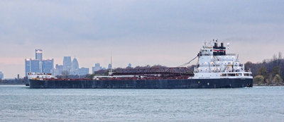 American Courage; passing Belle Isle, downbound