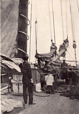 Schooner and crew