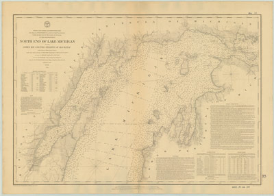 North End of Lake Michigan including Green Bay and the Straits of Mackinac, 1867