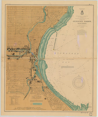 Milwaukee Harbor, Wisconsin, 1902